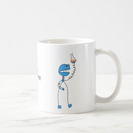 Funny Cartoon Robot Custom Text I Love Chemistry Coffee Mug