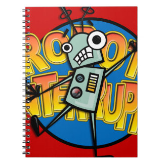 FUNNY CARTOON ROBOT SPIRAL NOTEBOOK