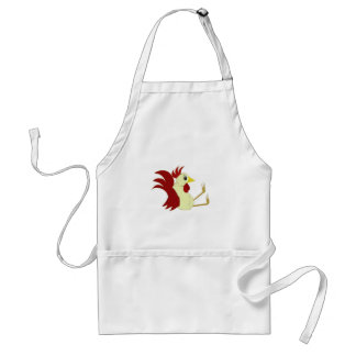 Funny Cartoon Rooster Adult Apron