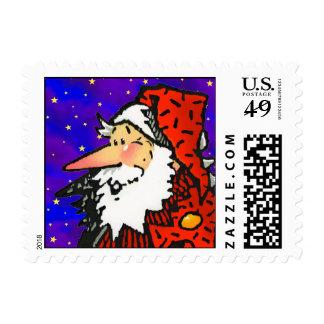 Funny Cartoon Santa Christmas Postage