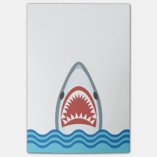 Funny Cartoon Shark Head Post-it Notes