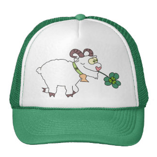 Funny Cartoon Sheep Saint Patricks Day Hats
