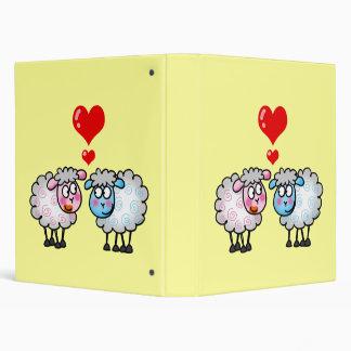 Funny cartoon sheeps, Wedding couple Binder
