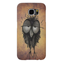 Funny Cartoon Sleepy Owl Samsung Galaxy S6 Case