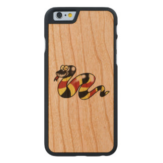funny cartoon snake carved® cherry iPhone 6 slim case