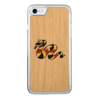 funny cartoon snake carved iPhone 7 case