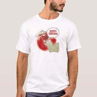 funny cartoon sock puppet says merry christmas T-Shirt