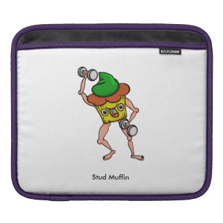 Funny Cartoon Stud Muffin Workout Sleeve For iPads