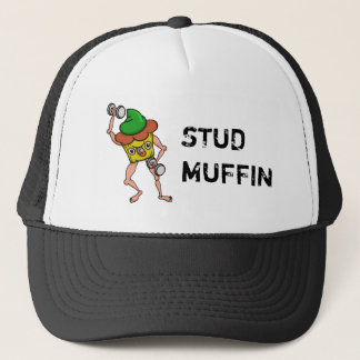 Funny Cartoon Stud Muffin Workout Trucker Hat