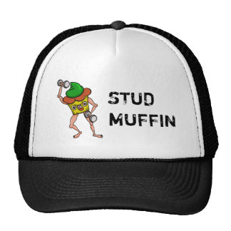 Funny Cartoon Stud Muffin Workout Trucker Hat
