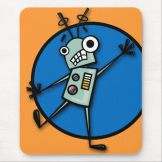 FUNNY CARTOON STYLE ROBOT MOUSE PAD