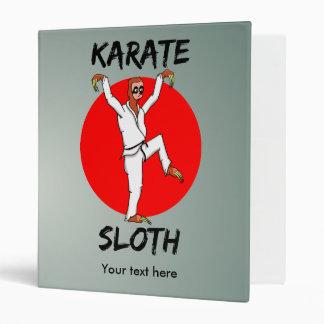 Funny Cartoon Style Sloth Doing Martial Arts 3 Ring Binder