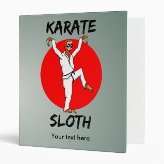 Funny Cartoon Style Sloth Doing Martial Arts Binders