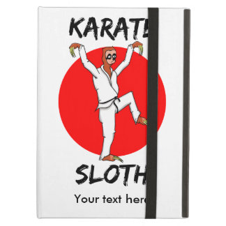 Funny Cartoon Style Sloth Doing Martial Arts Cover For iPad Air