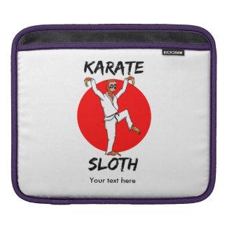 Funny Cartoon Style Sloth Doing Martial Arts iPad Sleeve