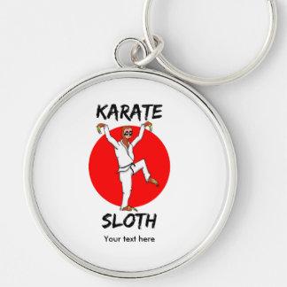 Funny Cartoon Style Sloth Doing Martial Arts Keychain