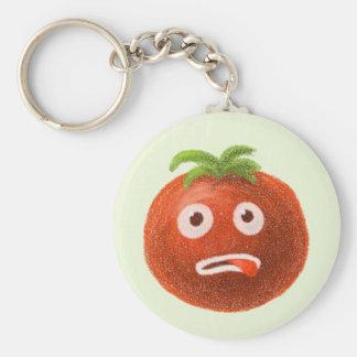 Funny Cartoon Tomato Keychain