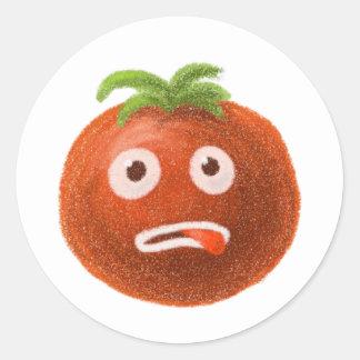 Funny Cartoon Tomato Sticker