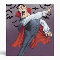 cartoon, dracula, vampire, drawing, art, al rio, bats, spooky, halloween, thomas mason, Binder with custom graphic design