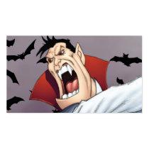 cartoon, dracula, vampire, drawing, art, al rio, bats, spooky, halloween, thomas mason, Business Card with custom graphic design