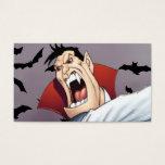 Funny Cartoon Vampire with Bats by Al Rio Business Card