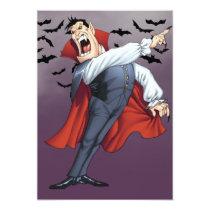 cartoon, dracula, vampire, drawing, art, al rio, bats, spooky, halloween, thomas mason, Invitation with custom graphic design