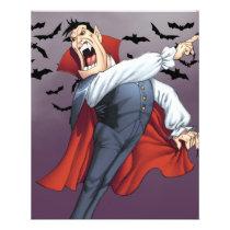 cartoon, dracula, vampire, drawing, art, al rio, bats, spooky, halloween, thomas mason, Flyer with custom graphic design