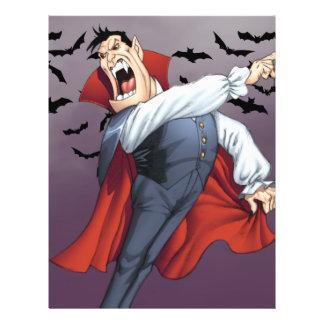 Funny Cartoon Vampire with Bats by Al Rio Flyer
