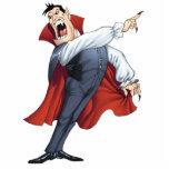 Funny Cartoon Vampire with Bats by Al Rio Statuette