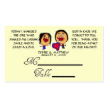 Funny Cartoon Wedding Placecards Double-Sided Standard Business Cards (Pack Of 100)