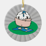 funny cartoon wet golfball wrapped in towel christmas ornaments