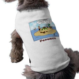 Funny Cartoon Woodturner on Deserted Island Tee