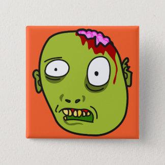 Funny Cartoon Zombie Face Pinback Button