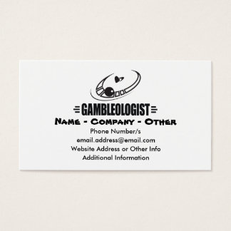 Funny Casino Business Card
