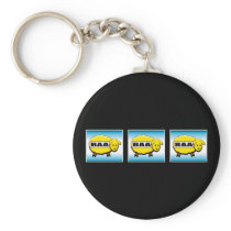 Funny Casino Slot Machine Keychain
