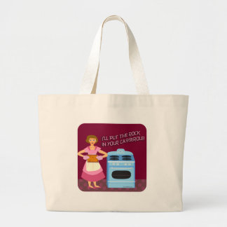 Funny Casserole with Sarcasm Large Tote Bag