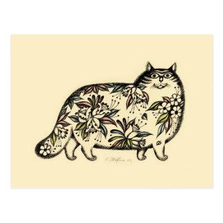 Funny Cat 2013 Calendar Postcard