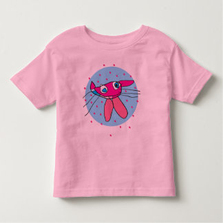 Funny cat and fish design kid's T-shirt