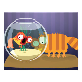 Funny Cat and Fish Flyer