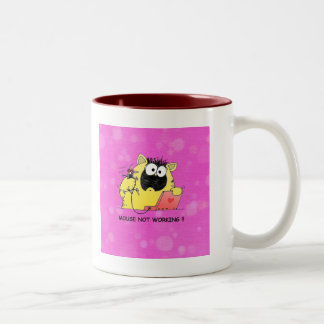 Funny Cat and Mouse Two-Tone Coffee Mug