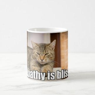 Funny Cat Apathy Is Bliss Coffee Mug