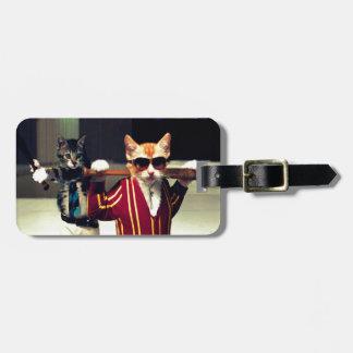 Funny cat bag tag