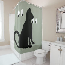 Funny Cat Shower Curtains | Zazzle
