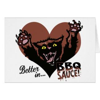 Funny Cat BBQ Greeting Card