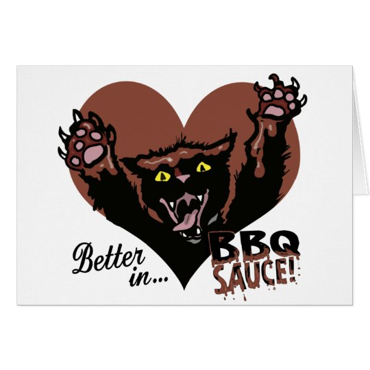 Funny Cat BBQ Card