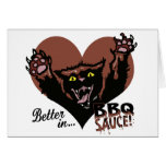 Funny Cat BBQ Greeting Card