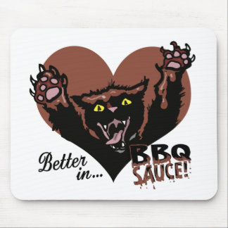 Funny Cat BBQ Mouse Pad
