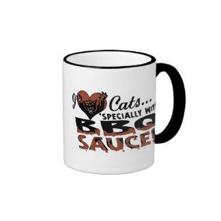 Funny Cat BBQ Ringer Mug