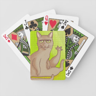 Funny Cat Bicycle Playing Cards