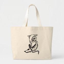 Funny cat canvas bags